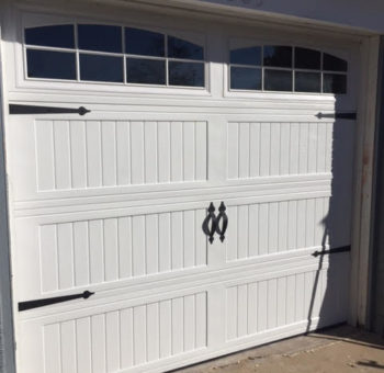 White Carriage Style Garage Door