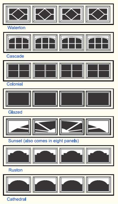 Garage Door Window Options
