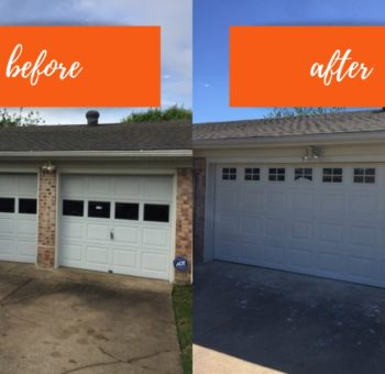 Before and After Garage Door Install