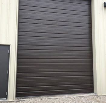Black Metal Garage Door